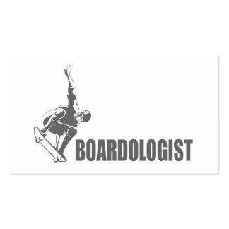 Skateboarding chistoso tarjeta de visita