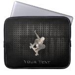 Skateboarding; Cool Black Laptop Sleeves