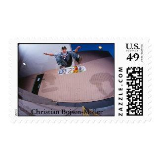 Skateboarding cristiano de Bojsen-Moller Sellos Postales