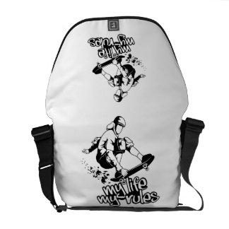 Skateboarding custom messenger bag