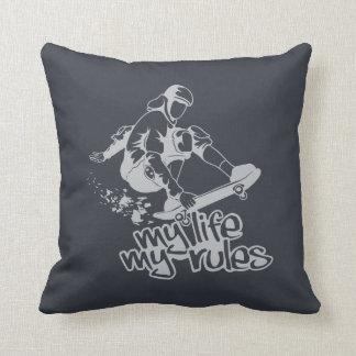 Skateboarding custom throw pillow