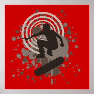 skateboarding de la alta fidelidad burbujas poster