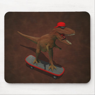 Skateboarding de T Rex Mousepad