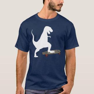 Skateboarding del dinosaurio playera