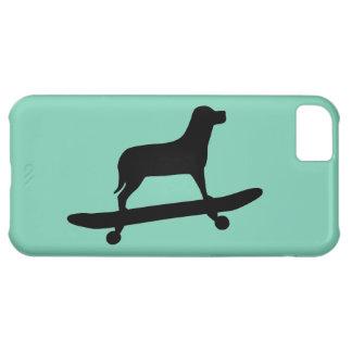 Skateboarding del perro - caso enrrollado del funda para iPhone 5C