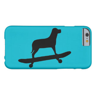 Skateboarding del perro - caso enrrollado del funda para iPhone 6 barely there