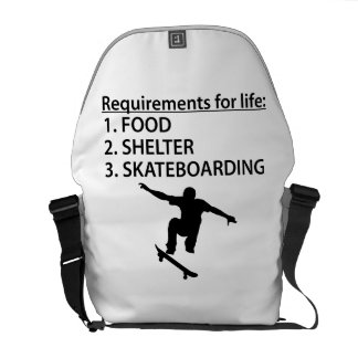 Skateboarding del refugio de la comida bolsas de mensajeria