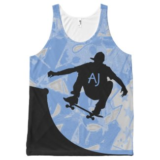 Skateboarding Design all over print Tank Top