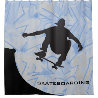 Skateboarding Design Shower Curtain