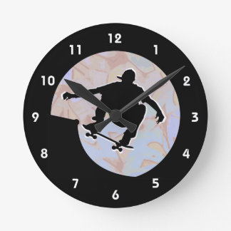 Skateboarding Design Wall Clock