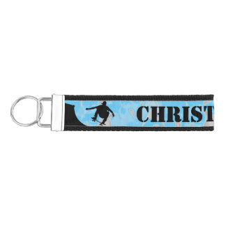 Skateboarding Design Wrist Key Chain