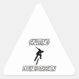 SKATEBOARDING designs Triangle Sticker