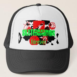skateboarding forever trucker hat