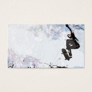 Skateboarding Grunge Layout Business Card