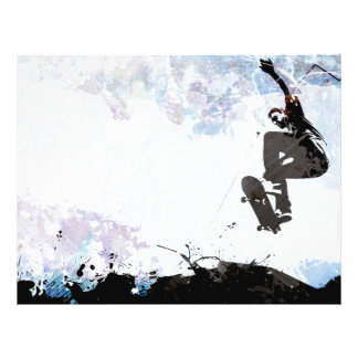 Skateboarding Grunge Layout Flyer