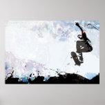 Skateboarding Grunge Layout Poster