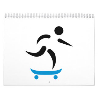 Skateboarding icon calendars
