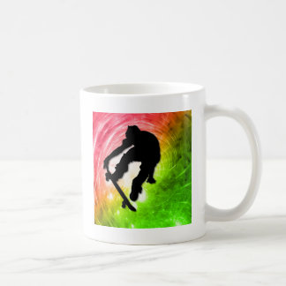 Skateboarding in a Psychedelic Cyclone Coffee Mug