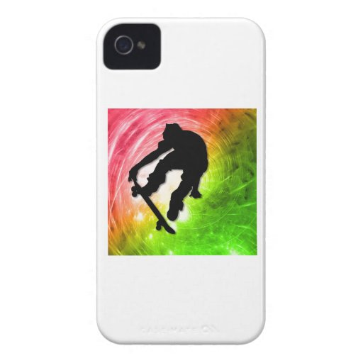 Skateboarding in a Psychedelic Cyclone iPhone 4 Cases