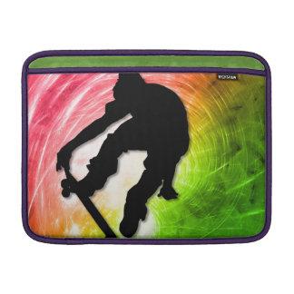 Skateboarding in a Psychedelic Cyclone MacBook Sleeve