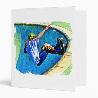 Skateboarding in the Bowl Vinyl Binders