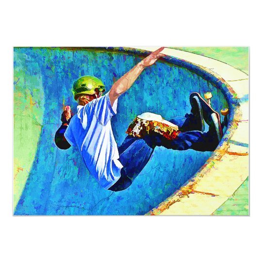 Skateboarding in the Bowl Card