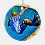 Skateboarding in the Bowl Christmas Tree Ornament
