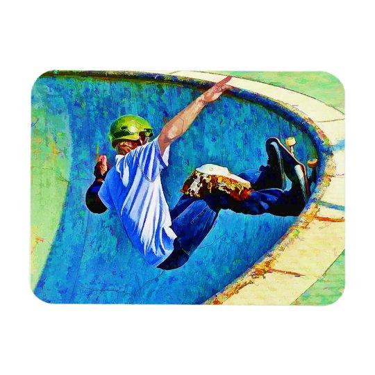 Skateboarding in the Bowl copy Magnet