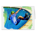 Skateboarding in the Bowl Greeting Cards