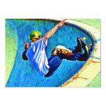 Skateboarding in the Bowl 5x7 Paper Invitation Card