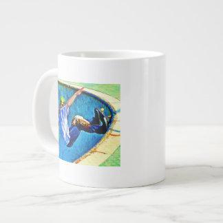 Skateboarding in the Bowl Large Coffee Mug