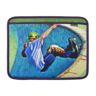 Skateboarding in the Bowl MacBook Air Sleeves