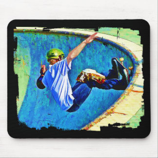 Skateboarding in the Bowl Mouse Pad