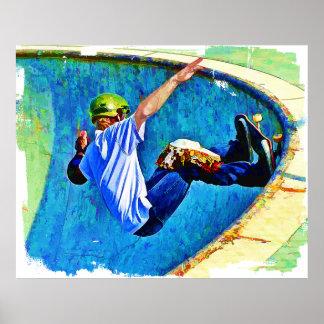 Skateboarding in the Bowl Poster