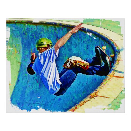 Skateboarding in the Bowl Posters