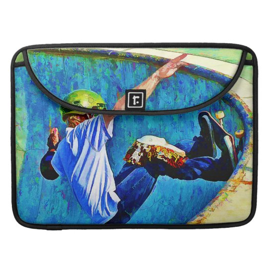 Skateboarding in the Bowl Sleeve For MacBooks