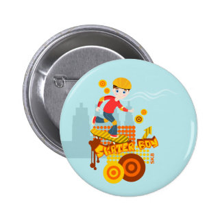 Skateboarding kid party 2 inch round button