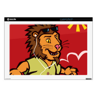 skateboarding Lion Laptop Skins