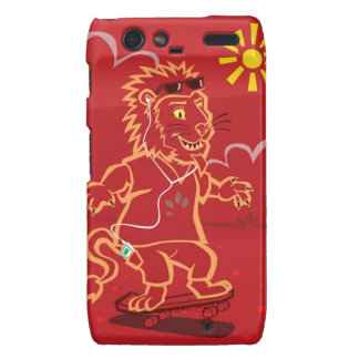 skateboarding Lion Motorola Droid RAZR Cases