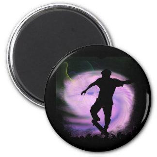 Skateboarding Mania 2 Inch Round Magnet