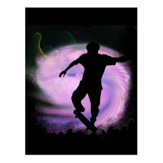 Skateboarding Mania Postcard