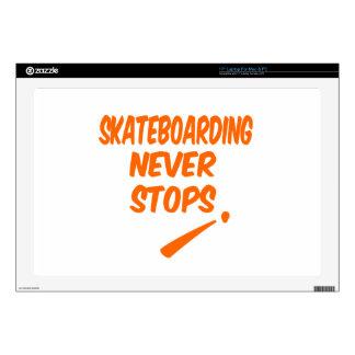 Skateboarding Never Stops Laptop Decals