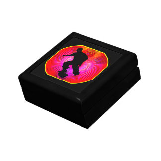 Skateboarding on Fluorescent Starburst Jewelry Box
