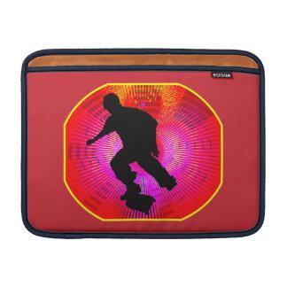 Skateboarding on Fluorescent Starburst Sleeve For MacBook Air