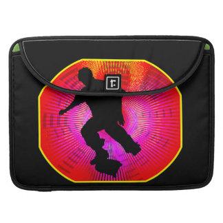 Skateboarding on Fluorescent Starburst Sleeve For MacBook Pro