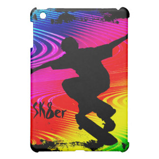 Skateboarding on Rainbow Grunge Case For The iPad Mini