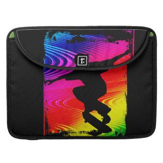 Skateboarding on Rainbow Grunge Sleeves For MacBooks
