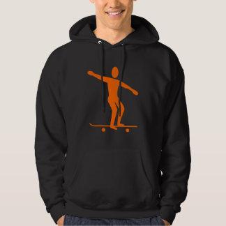 Skateboarding - Orange Hoodie