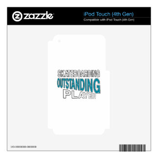 SKATEBOARDING OUTSTANDING PLAYER iPod TOUCH 4G DECAL