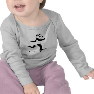Skateboarding Panda infant t shirts